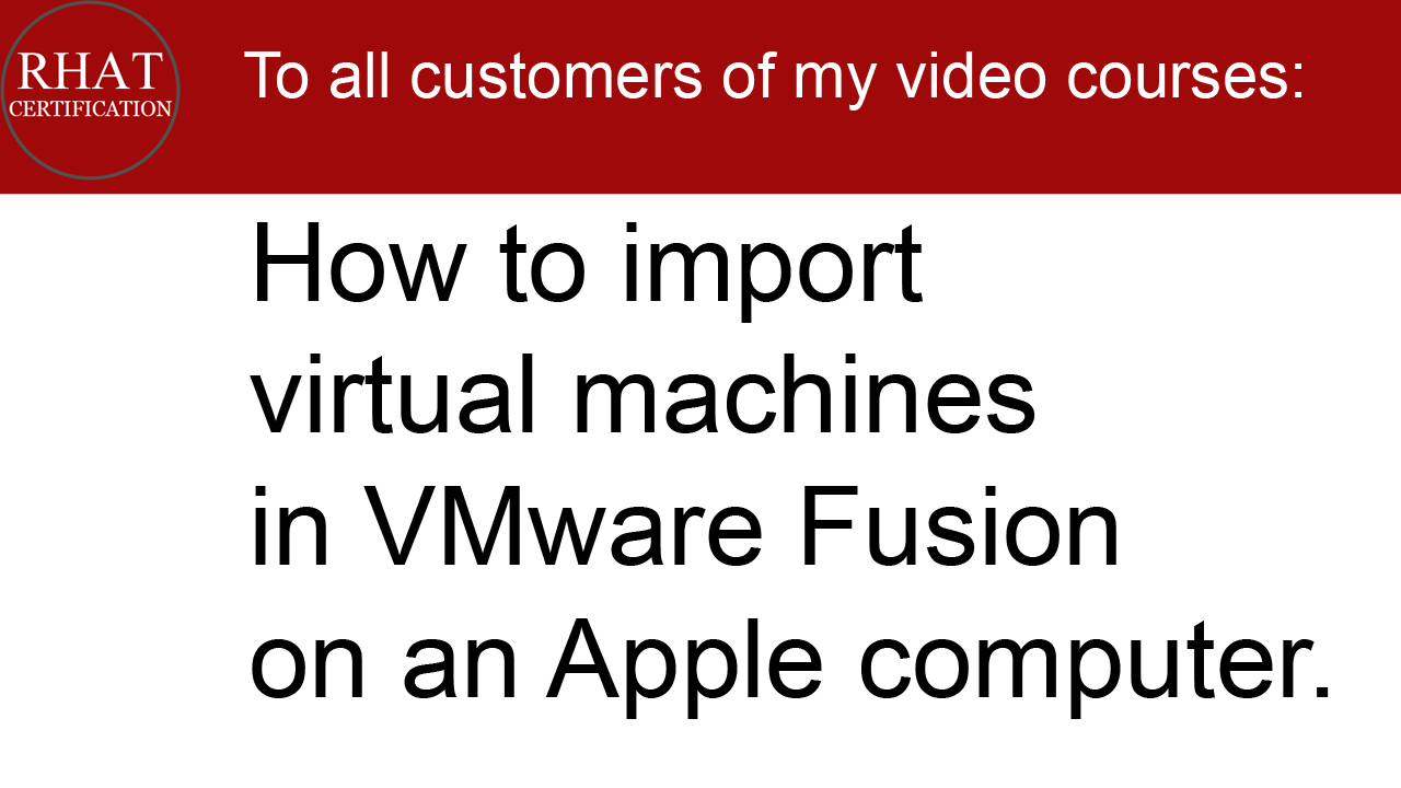 Video tutorial: How to import virtual machines in VMware Fusion on an Apple computer